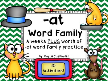 -at Word Family: CVC: A weeks PLUS worth of -at family act