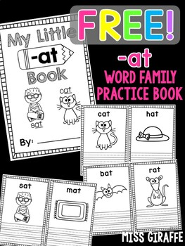 -at Word Family CVC Words Little Book