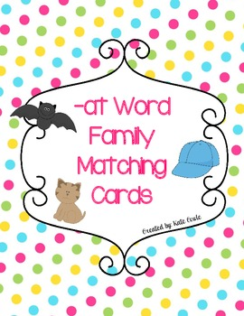 -at Word Family Cards-Matching with Recording Sheet