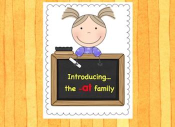 -at Word Family Chunk Lesson - Smart Board –12 slides - Grades PreK-3 - FREE!