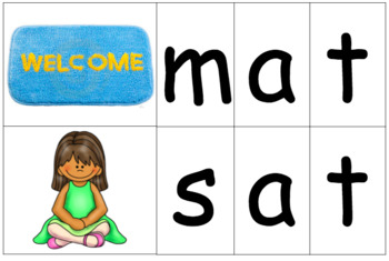 -at Word Family - Clothespin Spelling (Literacy Center Activity)