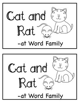 - at Word Family Emergent Reader