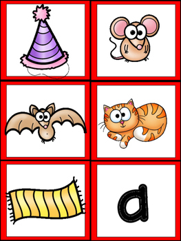 -at Word Family Emergent Reader Kindergarten with Pocket Chart Cards & More