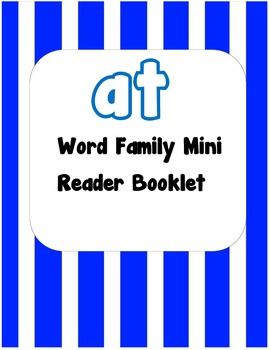 -at Word Family Flip Book