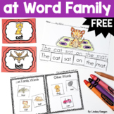 Word Families Fun! -at Family Freebie!