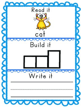 -at Word Family Packet, Read it, Build it, Write it Activities and Assessments!
