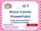 -at Word Family Phonics PowerPoint for K or 1st (Common Core!)