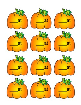 -at Word Family Pumpkins - Common Core