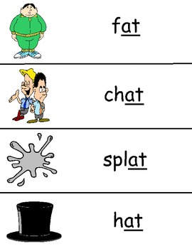 -at Word Family Vocabulary Cards