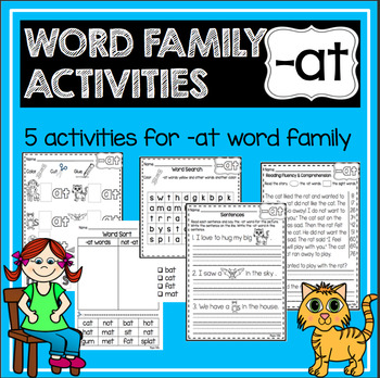 - at Word Family and Rhyming Activities—{No Prep!}