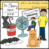 -at & -an word family clipart