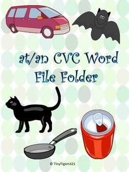 -at and -an CVC File Folder