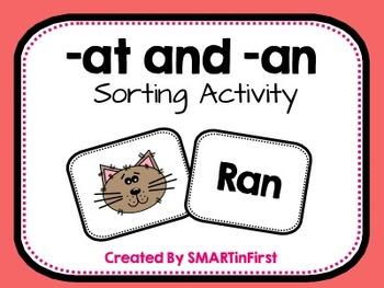 -at and -an Sorting Activity