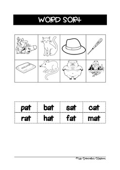 at word family spelling activities