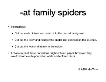 -at family spider craft