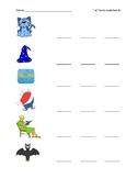 -at family worksheet 1