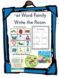 -at word family Write the Room