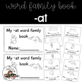 - at word family book: cut and paste, word work