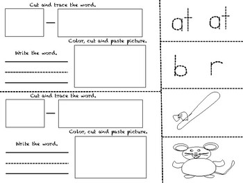 -at word family book_Trace and Write (7 Pages)