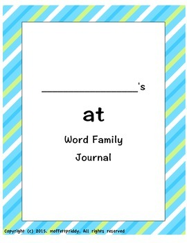 at word family journal