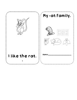 -at word family sight word book