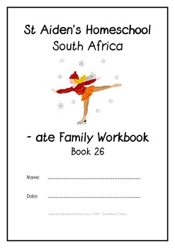-ate Word Family Workbook