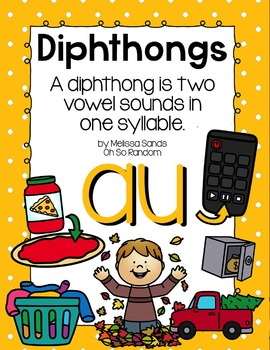 -au Diphthong Anchor Chart & Practice {Click File, Print}
