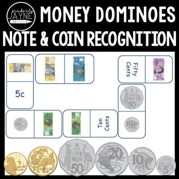 Australian Money - Coin and Note Recognition Dominoes