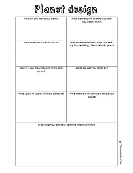 Graphic Organiser Planet Design