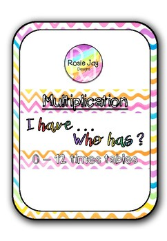 I Have, Who Has Multiplication 0-12x