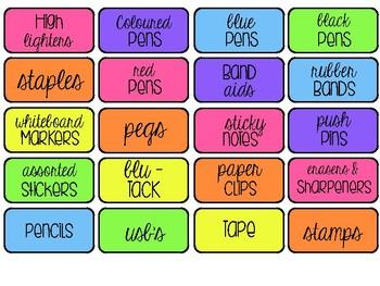 #ausbts18 Teacher Toolbox 'Colourful' Labels
