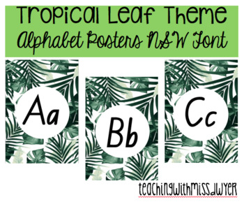 Tropical Leaf Alphabet Posters