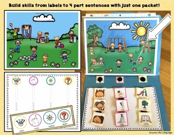 Autism File Folder Sentence Building Activities - Playground