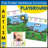File Folder Games | Adapted Books | Sentence Building | Playground Activities