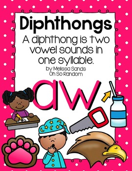 -aw Diphthong Anchor Chart & Practice {Click File, Print}
