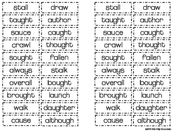 /aw/ Sound Word Sort (FREEBIE)