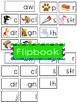 -aw Word Family Flipbook, Word Wall Cards and Data Tracking Sheets!