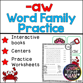 -aw Word Family Pack