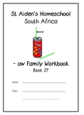 -aw Word Family Workbook