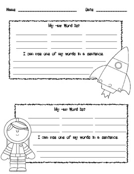 -aw and -au Word Board Game: Rocket Launch