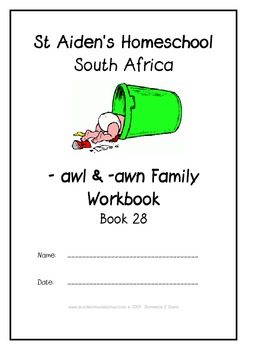 -awl and -awn Word Families Workbook