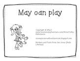 -ay Word Family Book - May can Play AND Activities
