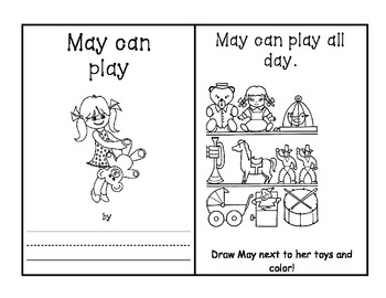 -ay Word Family Book - May can Play AND Activities