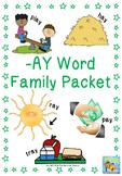 -ay Word Family Packet