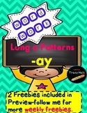 -ay Word Family Spelling and Word Work Printables-2 Freebi