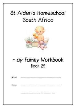 -ay Word Family Workbook