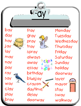 -ay word list