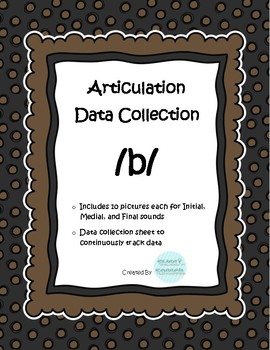 /b/ Articulation Data Collection Progress Monitoring Tool- Limited time FREE
