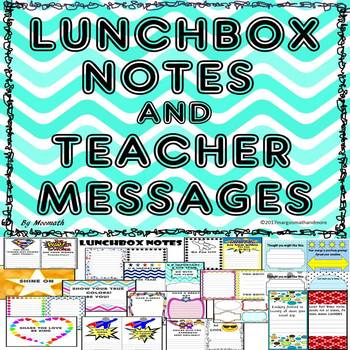 #bestof2017 Lunchbox Notes and Teacher Messages