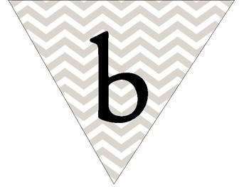 # best class ever bulleting board header decoration grey chevron